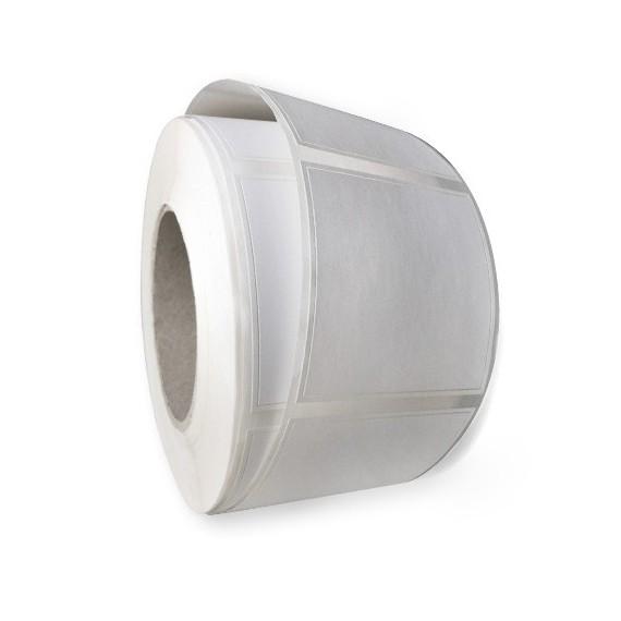 Etiquettes double découpe 40x60mm / Papier blanc brillant / Bobine de 1 000 étiquettes GS